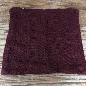 Oui knit berry pillow cover cozy burgundy